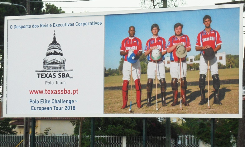 Jamie Demericas & Texas SBA™ Polo Team at Portugal Billboard